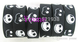 $enCountryForm.capitalKeyWord Australia - Wholesale - 50 pcs   lot Classic Night before Christmas Wristband Silicone Bracelet Promotion Gift Filled in Color Bracelet Black