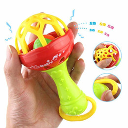 baby grasping rattles Australia - Newborn Toy Infant Stroller Crib Hanging Rattles Plastic Kids Hand Bell Rattle Baby Intelligence Grasping Gums Bell Newborn Baby Rattles