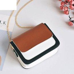 Phone Chain Color Australia - Fashion Women Bag Girls Leather Chain Handbag Crossbody Shoulder Bag Female Casual Hit Color Mini Small Messenger Phone Bag