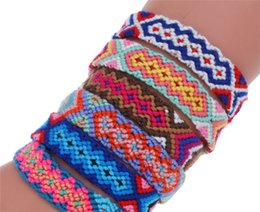 $enCountryForm.capitalKeyWord Australia - Hot style Bohemian retro ethnic style woven bracelet Nepal rainbow lucky luck luck hand rope friendship