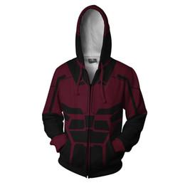 $enCountryForm.capitalKeyWord UK - DareDevil cosplay 3D Print Superhero Movie Sweatshirts Hoodies Fashion Avengers Cosplay Zipper hooded Jacket clothing