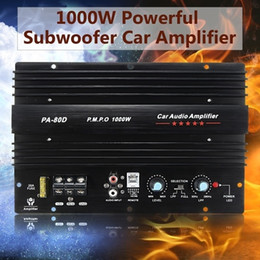 Toptan satış 001 amplifikatör Toptan 12V 1000W Araç Kamyon Amplifikatör Ses Gücü Güçlü Bas Sabvufırlar Hoparlör Hi-Fi Amp Subwoofer gücü