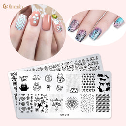 make stamps NZ - 1pcs New Design 12 Style Nail Stamping Plates Set Made Stencils Stainless Image Plate DIY Nail Art Templates Transfer Tools