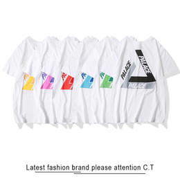 New spriNg fashioN treNds online shopping - palacey Spring summer new classic print t shirts men s and women s pairs short sleeves fashion trend street hits six colors
