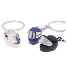 $enCountryForm.capitalKeyWord Australia - Creative 3D Motorcycle Bicycle Helmet Key Chain Ring Key Fob Cool Jewelry Gifts Keychain Keyring For Women Men