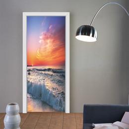 9ceb27f98 6 Photos Art de surf ? vendre-Gros 3D Coucher du soleil surf porte murale  peinture murale