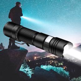 $enCountryForm.capitalKeyWord Australia - 10w 800lm Mini Portable 5 Mode LED Dimmable Flashlight Flashlight Adjustable Focus Zoom Light Bulb Black