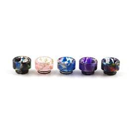 $enCountryForm.capitalKeyWord UK - 810 Thread Cone Bell Marble Epoxy Resin Drip Tips SS Gourd Drip Tip Mouthpieces For TFV8 TFV12 TFV8 Big Baby Tank 2269039