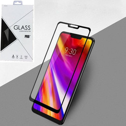 Screen protector StyluS online shopping - 9H Full Cover Tempered Glass Screen Protector Silk Print for LG Stylus stylo K40 Q6 Q7 G6 G7 Retail package