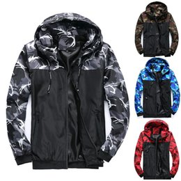 plus size clothing for sale Canada - Mens Designer Jackets Brand Panelled Jacket for Men Camouflage Hot Sale Windbreaker Winter Warm Men Clothing Plus Size M-6XL Wholesale