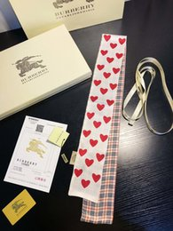 Hand Bag Printed Australia - Flower Print Hand Bag Scarves Women Imitated Silk Hair Scarf kerchief Neckerchief Flower Print Stripe Handle Bag Ribbon Long Scarves & Wraps
