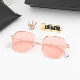 7187730e46 bright sunglasses 2019 - Luxury sunglasses 7070 womens mens Fashion color  polygon frame Polarized bright lens