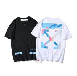 $enCountryForm.capitalKeyWord UK - Summer youth fashion T-shirt OW new Manila limited cordon gradient graffiti short-sleeved T-shirt boy and girl high quality cheap for sale