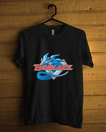 blue black beyblade Australia - Beyblade Logo Anime Cartoon Custom t Arrive