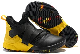 de84cf32e07 2019 New Jam King Soldier 12 Limited Edition BHM Cavs Court General Mens  Basketball Shoes Sports Finals Black Gold Purple Sneakers Size7-12
