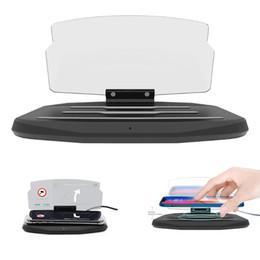 Car Heads Up Display Australia - HUD Car Phone GPS Display Wireless Charger Auto Air Vent Holder for iPhone Smartphone Stand Holder Wireless Charging Pad Head-up Display New