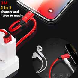 $enCountryForm.capitalKeyWord Australia - 2in1 Connector Audio USB Cable for phone Charger Cable Earphone Splitter Cable for xr x xs max