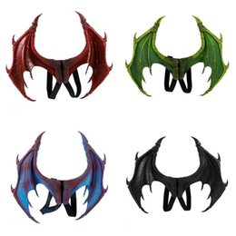 $enCountryForm.capitalKeyWord Canada - Halloween Devil Costume Dragon Wings PU Foaming 4 Colors Children Wing Novelty Cosplay Party Supplies Hot Sale37sz E1