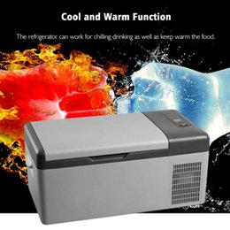 digital led car 12v Australia - 12V 24V 15L Car Refrigerator Freeze Car Charging Led Digital Portable Compressor Traveling Fridge -20 Degree Auto Cooler Freezer