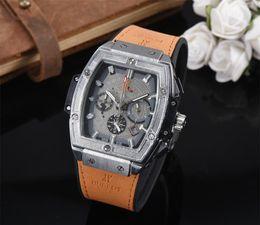 Logo Brand Man Watch Australia - Top brands HBOT LOGO men watches quartz Stopwatch All small dial work new masculino luxury watches Relogio brand Wristwatches men bh 88