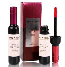 Lipstick Lasts Australia - Waterproof Lip Gloss Lipstick Wine Bottle Shape Lip Tint Long Lasting Moisturer Liquid Lipstick Lip Makeup