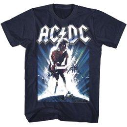 Black s guitar online shopping - ACDC Chrome Guitar Shredding Mens T Shirt Angus Young Rock Band Album Tour Merch
