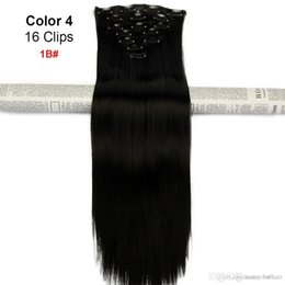Human Hair Clip Dhl NZ - Human Indian Clip in Hair Extensions Virgin Hair 70-160g option set with natural Black color, Free DHL