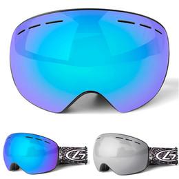 Discount ski snowboard sunglasses - Brand Men Women Snow Ski Goggles Double Layers UV400 Anti-fog Big Ski Mask Glasses Skiing Snowboard Sunglasses Skiiing E