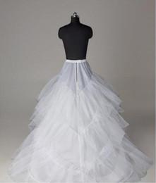 Großhandel Günstige Hochzeit Petticoats Schichten Tüll Krinoline für Kleider Ballkleid Brautkleider Free Size Brautkleider Matched Unterrock