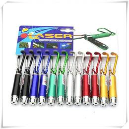 Flashlight Pens Wholesale Australia - LED Flashlight 3 In 1 LED Light Red LED Laser Pen Pointer Flash Light Torch Flashlight Emergency Keychain