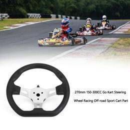Venta al por mayor de Areyourshop car 270mm 150-300cc volante de dirección KART SEL Racing Off Road Sport Cart Part Parts Accesorios de Auto