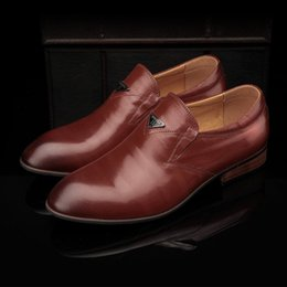 Shoes Circle Australia - Pop2019 Time Leisure Affairs Circle Head Level With Ventilation Straight Flower Genuine Leather Male Shoe Car Suture Men's Singles Number Of