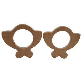 Cartoon Nature UK - 4pcs Wooden Big ladybug Teether Nature Baby Rattle Teething Grasping Toy DIY Organic Eco-friendly Wood Teething Accessories