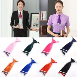 $enCountryForm.capitalKeyWord Australia - wholesale Satin Double-deck Knife Shape Necktie Waitress Small Suit Accessories Team Small Tie Woman Korean