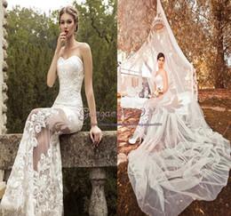$enCountryForm.capitalKeyWord Australia - 2019 summer gorgeous A-Line Wedding Dresses Bohemia Sexy see through Bodice Beach Bridal Gowns with detachable train sweetheart Custom Made