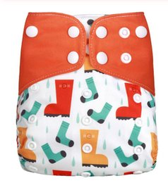diapers sizes NZ - 1PC Reusable Waterproof digital printed baby Cloth Diaper One Size Pocket baby nappies wholesale price fit for 3-15kg