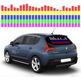 $enCountryForm.capitalKeyWord Australia - OKEEN Car Sticker Music Rhythm LED Flash Light Lamp Sound Activated Equalizer Car Atmosphere Led Light 90*25cm 6 colours