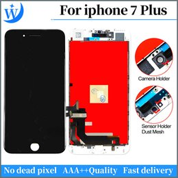 White Touch Screen Assembly Australia - Grade A++++++ LCD Display Touch Digitizer Frame Assembly Repair For iPhone 7 Plus Black white LCD Touch Screen free DHL shipping
