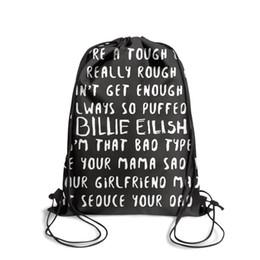 Dye Packs Australia - Drawstring Sports Backpack the billie eilish experience popular daily gym Travel Fabric Backpack