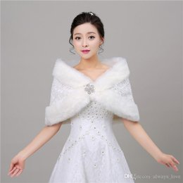 $enCountryForm.capitalKeyWord NZ - 2019 Cheap Winter Faux Fur Bridal Wedding Wrap Cape Shawl Jackets Coat Bolero Tippet Stole for Wedding Party PJ040