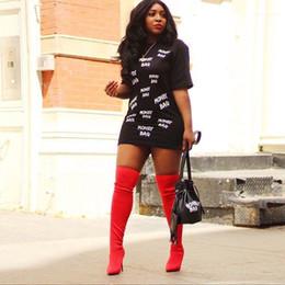 Wholesale women causal dress resale online – Shirt Dresses O Neck Short Sleeve Black White Dress Causal Female Clothing Women Letter Printed