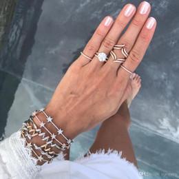$enCountryForm.capitalKeyWord Australia - Bangle bracelet for women simple paved cz star CZ bar design linked fashion jewelry for 2018 Christmas gift charming women jewelry