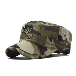 $enCountryForm.capitalKeyWord UK - Cross-border Express One Generation Hair Embroidered AIR FORCE Camouflage Baseball Hat Male Hat Cotton Flat Top Hat