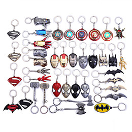 yellow agate wholesale NZ - Marvel jewelry SuperHeroe The Avengers Logo Style Metal Pendant Keychains Letter A Keyring porte clef chaveiro key holder 190426