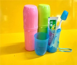 Wholesale Portable Travel Plastic Toothbrush Toothpaste Towel Cover Case Holder toothpaste toothbrush For Outdoor Travel Camping Storage Box