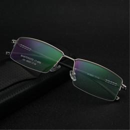 c60daa87d Compre Nova Liga De Armações De Óculos Homens De Negócios Masculino  Espetáculo Quadro Ultra Leve Grande Rosto Confortável Eyewear Miopia De  Agoodtime, ...