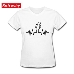 custom black bass guitar NZ - Bass Guitar Heartbeat Pulse Women Summer T Shirt Print Custom Short Sleeve Valentine Gift Female T-Shirt Streetwear Hiphop Shirt