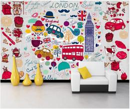 $enCountryForm.capitalKeyWord Australia - WDBH custom photo 3d wallpaper British London style romantic cute cartoon wall home decor living room wallpaper for wall 3 d