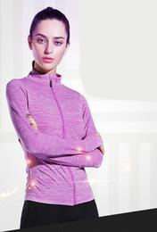$enCountryForm.capitalKeyWord Australia - Women Running Jackets Long Sleeve Jogging Sweatshirt Ladies Yoga Sports Zipper Jacket Coat Fitness Gym Shirts Women's Hoodie KC001