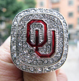 $enCountryForm.capitalKeyWord Australia - 2015 Oklahoma Sooner s Big 12 Championship Ring Silver color Souvenir Men Fan Gift 2019 wholesale Drop Shipping